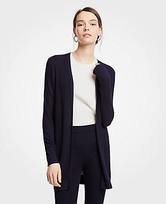 Ann Taylor Petite Ribbed Open Cardigan 25054491
