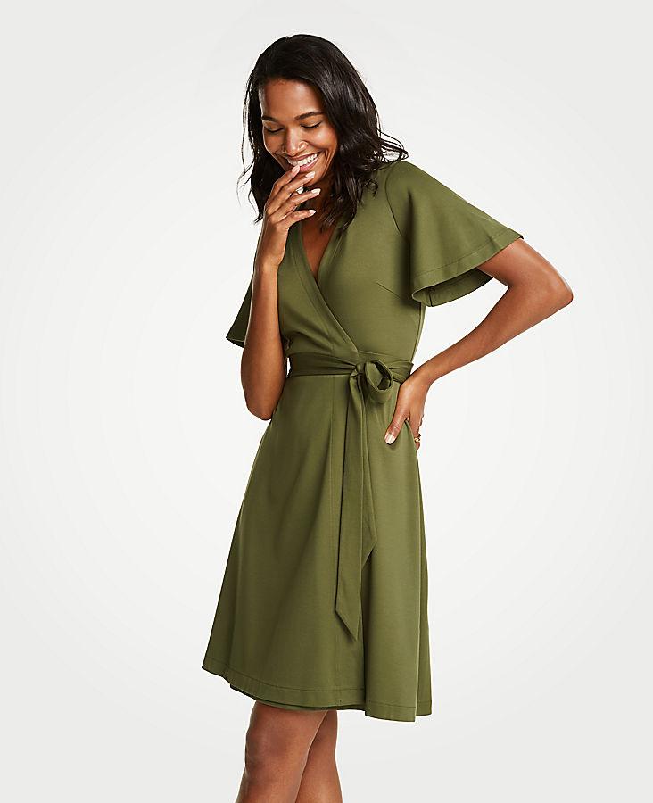 Flutter Sleeve Wrap Dress | Tuggl