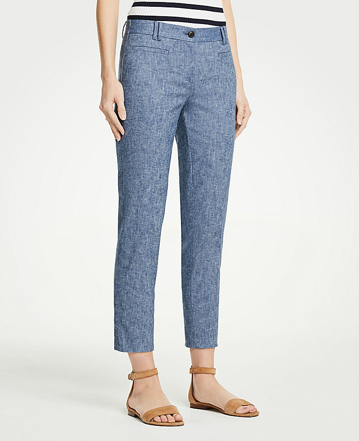 The Crop Pant In Chambray | Tuggl