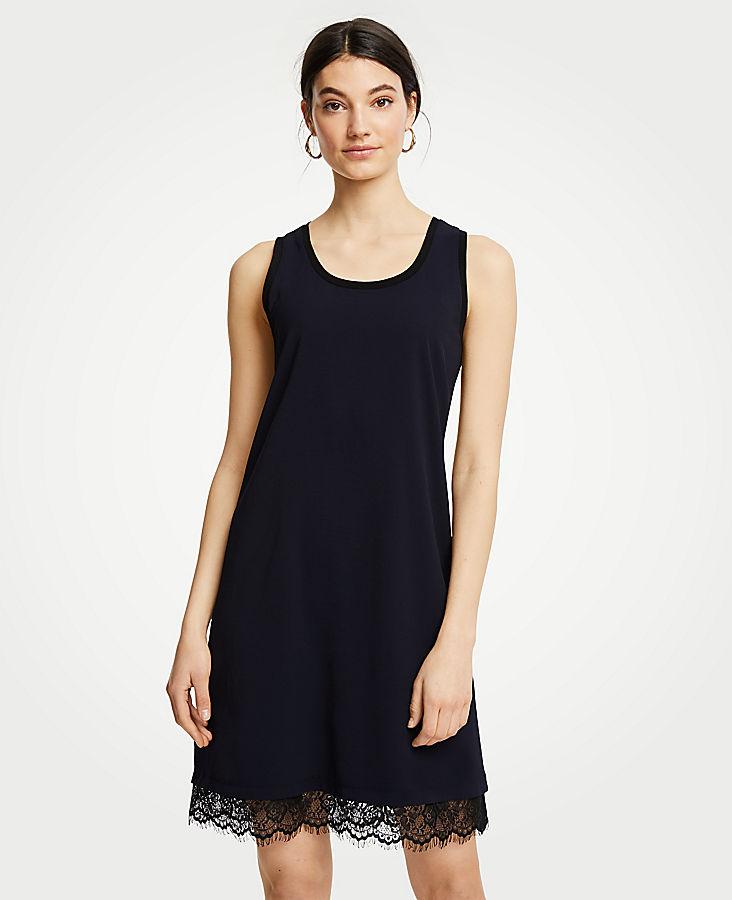 Petite Lace Hem Tank Dress