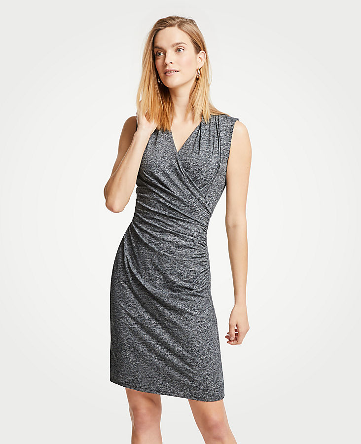 Faux Wrap Knit Dress at Ann Taylor in Victor, NY | Tuggl