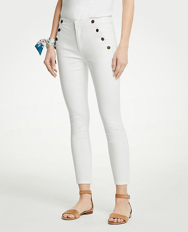 Petite Sailor Skinny Crop Jeans