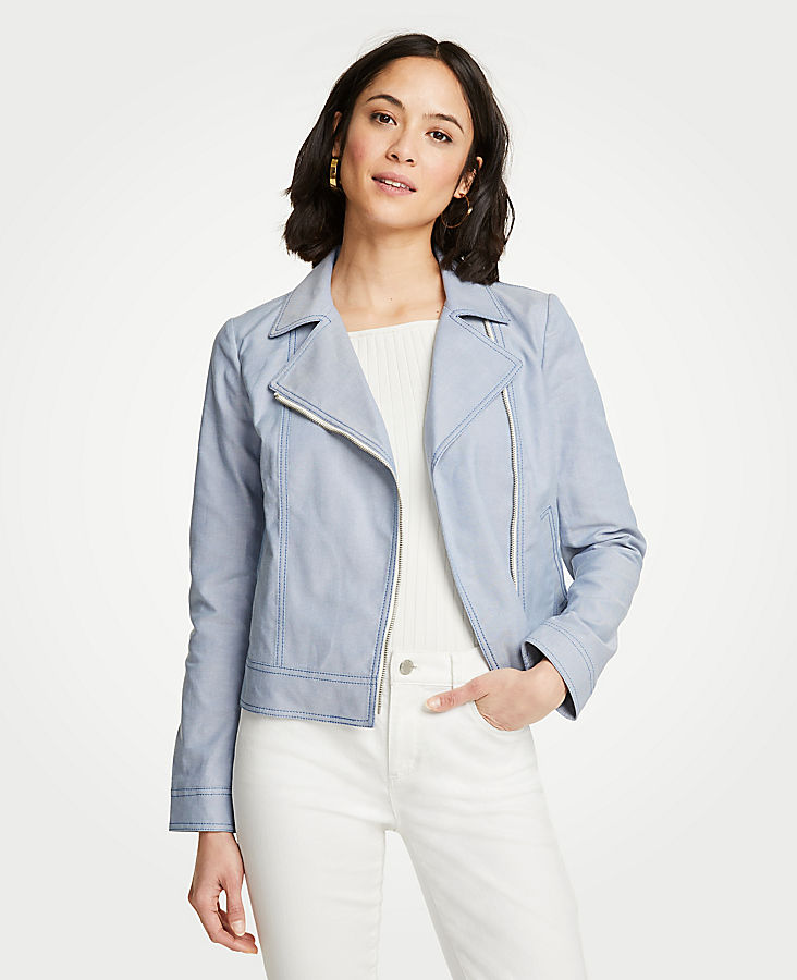 Pettie Canvas Moto Jacket | Tuggl