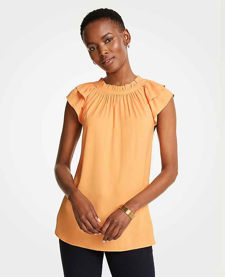 Tall Double Ruffle Sleeve Tee | Tuggl