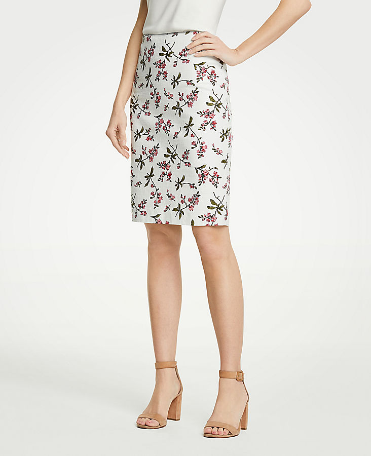 Petite Floral Pencil Skirt | Tuggl