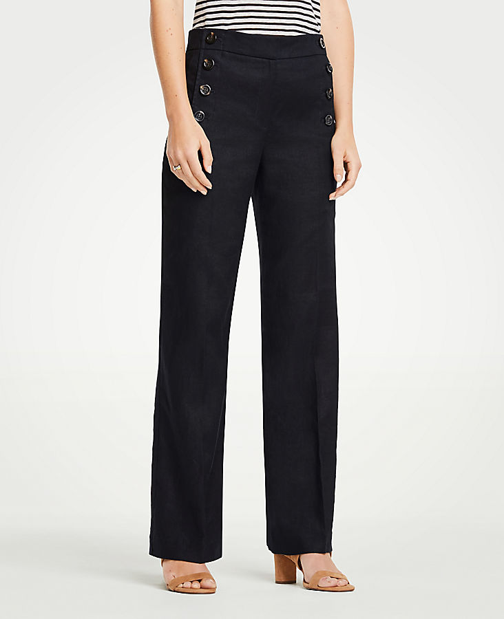 Petite Wide Leg Sailor Pants