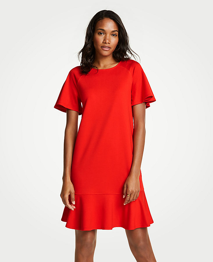 Petite Flounce Shift Dress