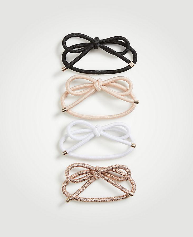 Bow Elastic Hair Tie Set | Tuggl
