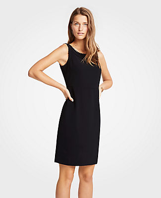 Ann Taylor Scalloped Sheath Dress 25560947