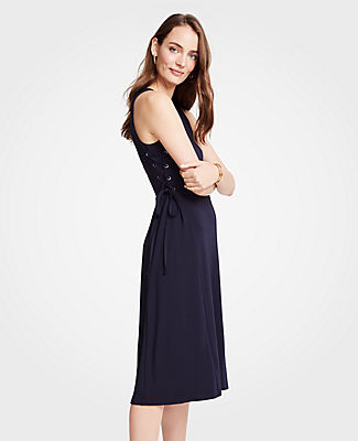 Ann Taylor Side Tie Knit Flare Dress 25571721