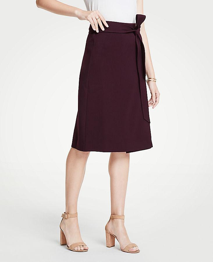 Tie Waist Midi Wrap Skirt | Tuggl