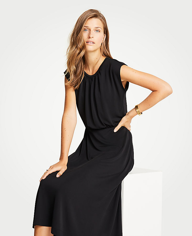 e65f2498732 Cap Sleeve Knit Midi Dress