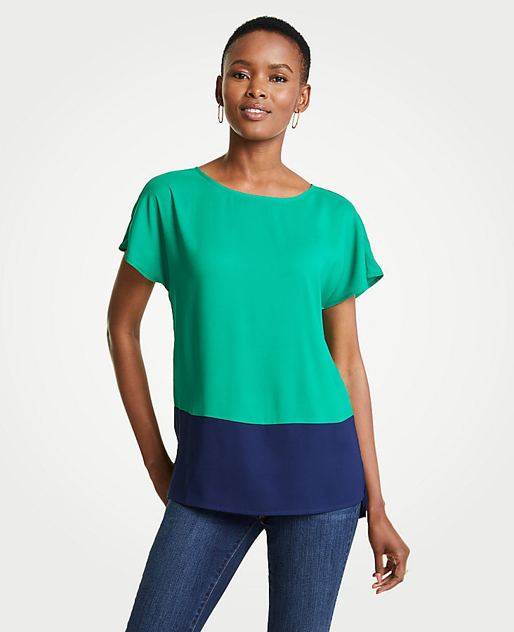 Colorblock Tunic at Ann Taylor in Victor, NY | Tuggl