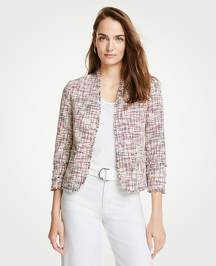 Rainbow Tweed Jacket | Tuggl
