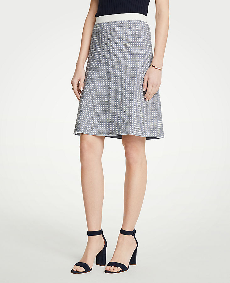 Geo Jacquard Flare Skirt | Tuggl