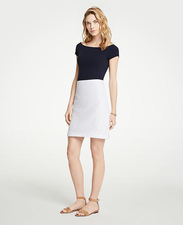 Petite Lace A-Line Skirt