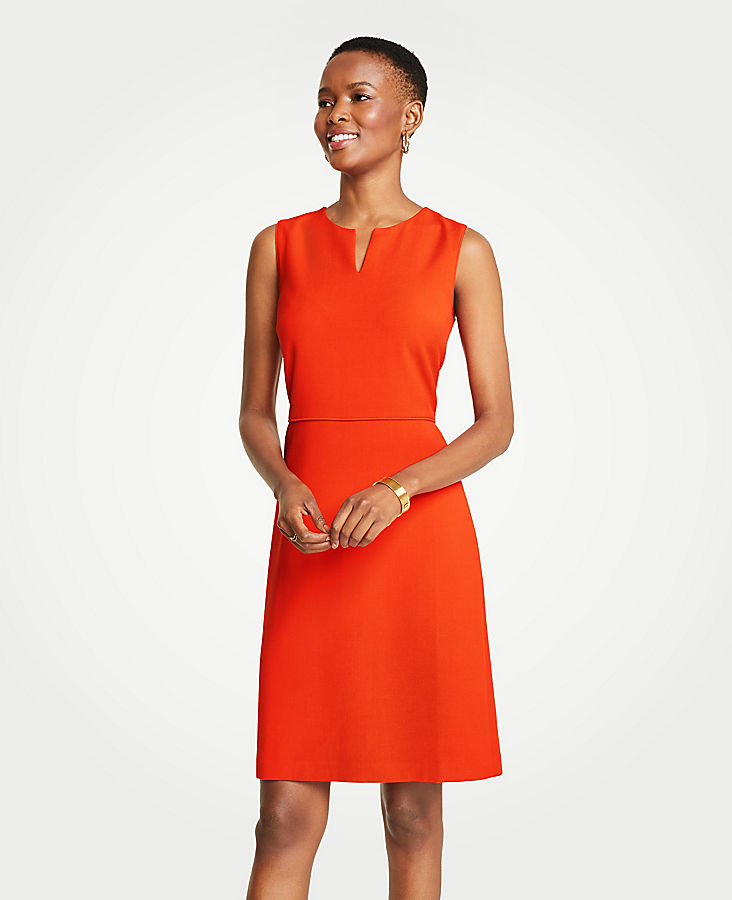 Split Neck Sheath Dress | Tuggl