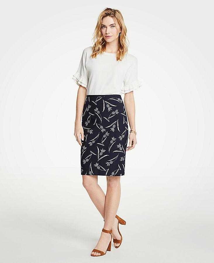 Petite Pineapple Pencil Skirt