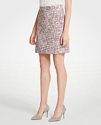 Ann Taylor Petite Rainbow Tweed Skirt