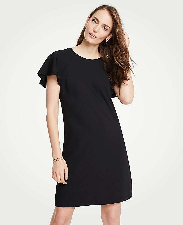 Petite V-Back Flutter T-Shirt Dress