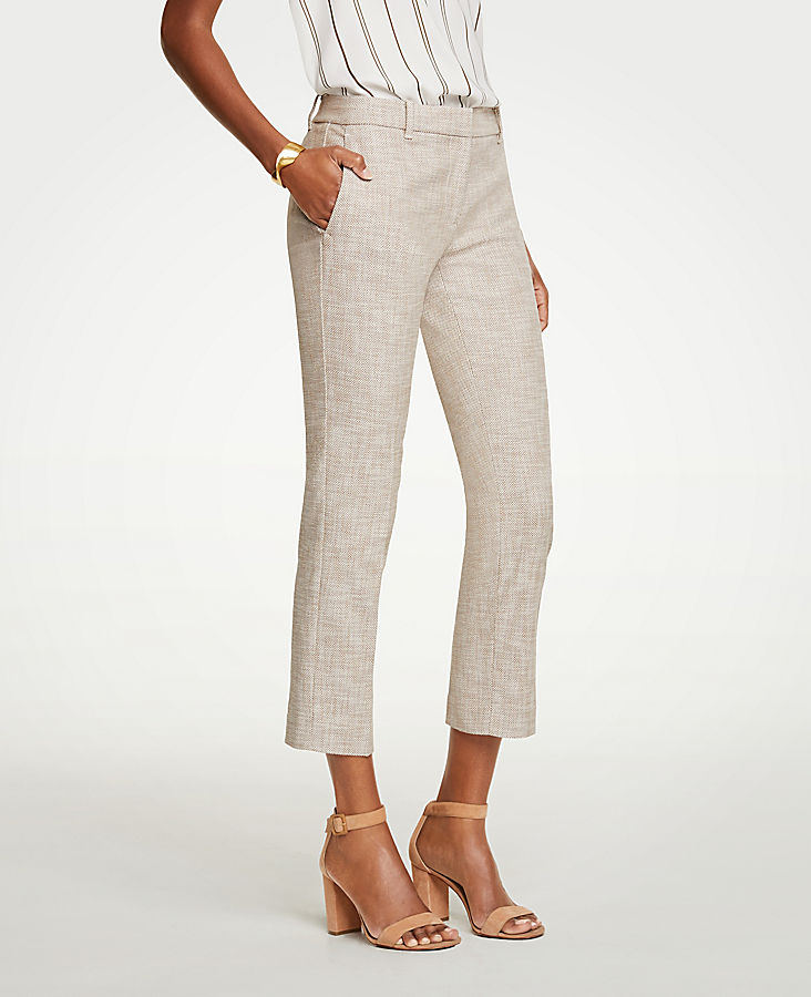 The Petite Ankle Pant In Texture - Curvy Fit