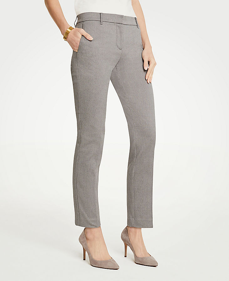 The Petite Ankle Pant In Herringbone - Curvy Fit
