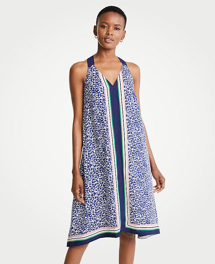 Petite Border Strappy Midi Dress