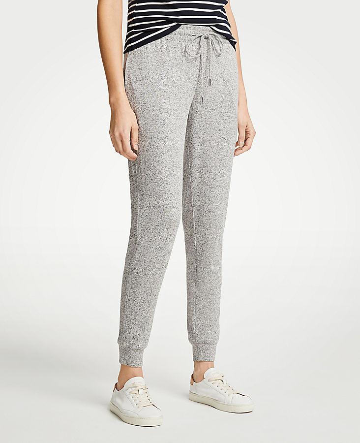 Petite Marled Knit Jogger Pants