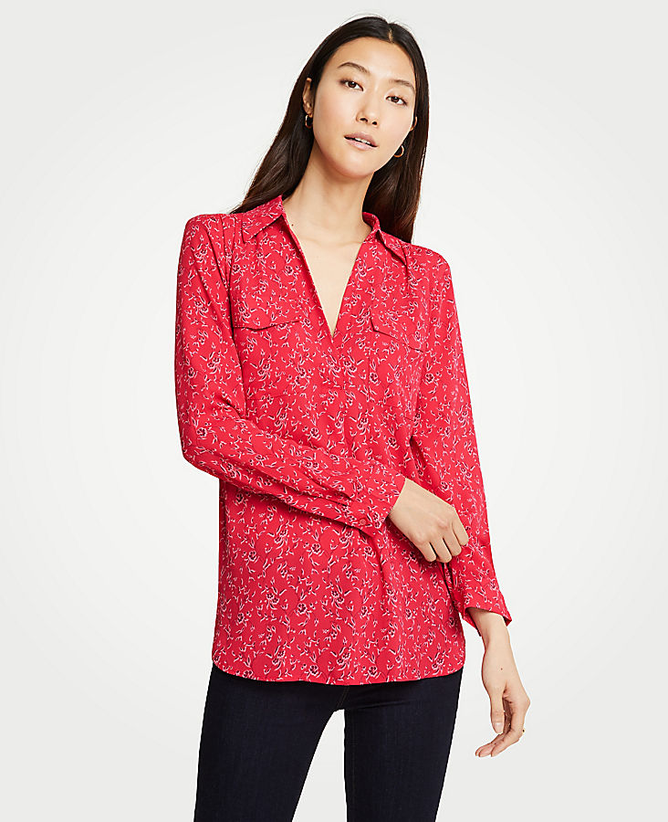 Tall Floral Branch Camp Shirt | Tuggl