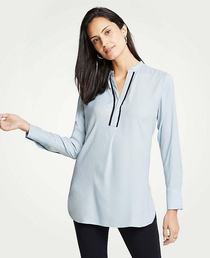 Contrast Piped Tunic | Tuggl