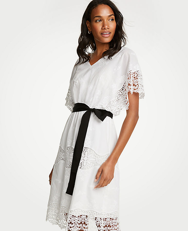 Tall Lace Belted Dress | Tuggl