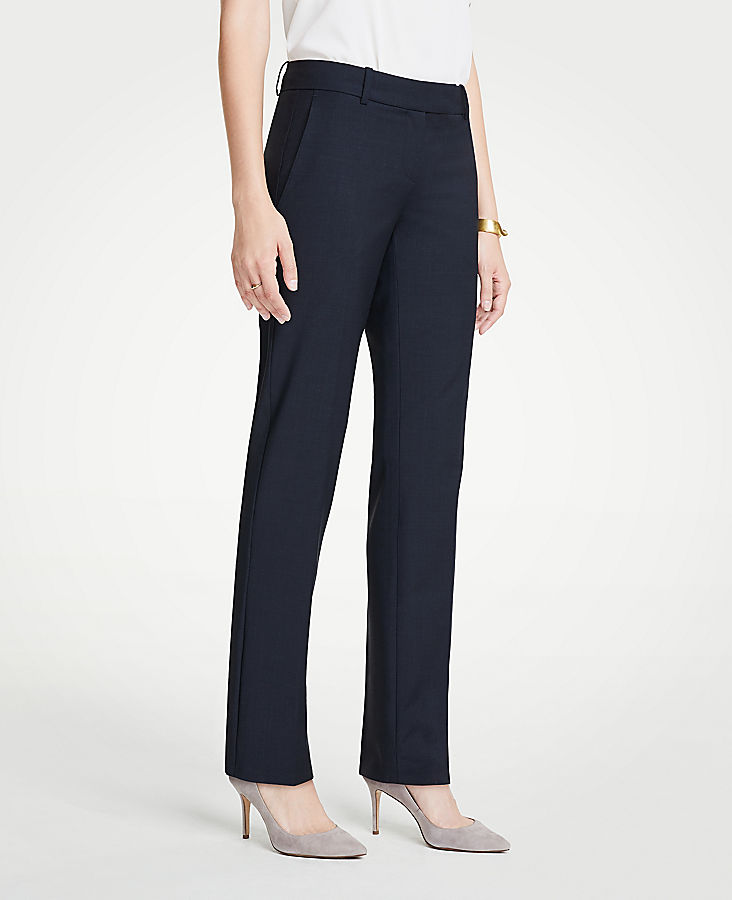 The Straight Leg Pant In Tropical Wool - Curvy Fit | Tuggl