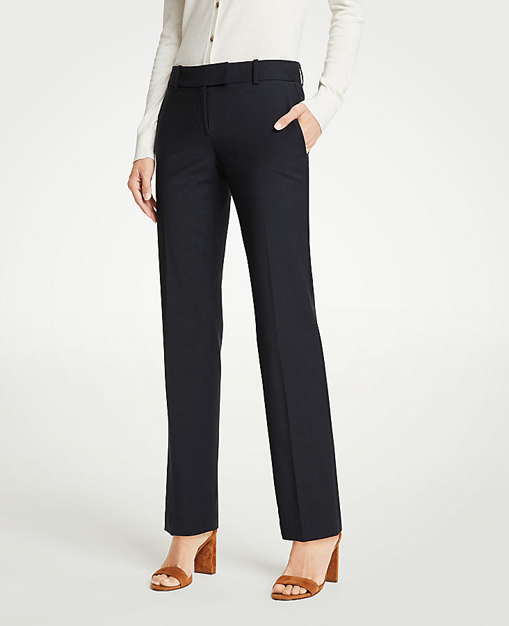 The Petite Straight Leg Pant In Tropical Wool