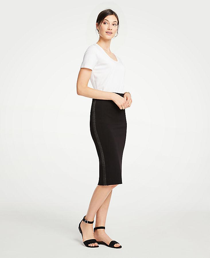 Shimmer Stitched Pencil Skirt | Tuggl