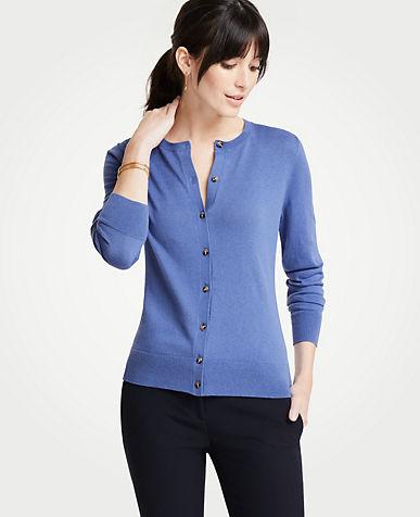 Purple Blue Sweaters For Women Sweater Sets Cardigans Ann Taylor