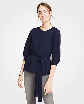 Ann Taylor Tops TIE FRONT TOP