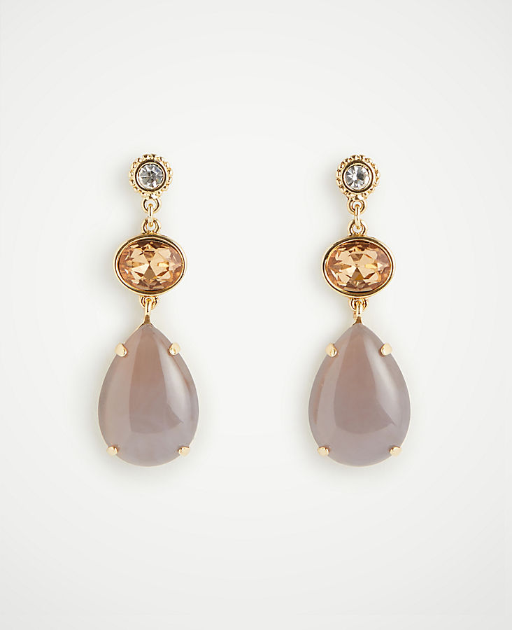 ANN TAYLOR Mixed Stone Drop Earrings NOlOb