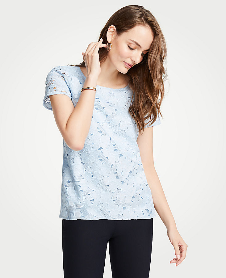 Petite Floral Lace Tee