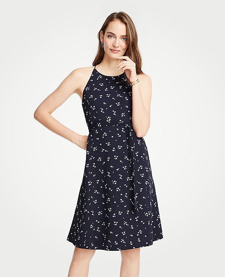 Petite Halter Flare Dress