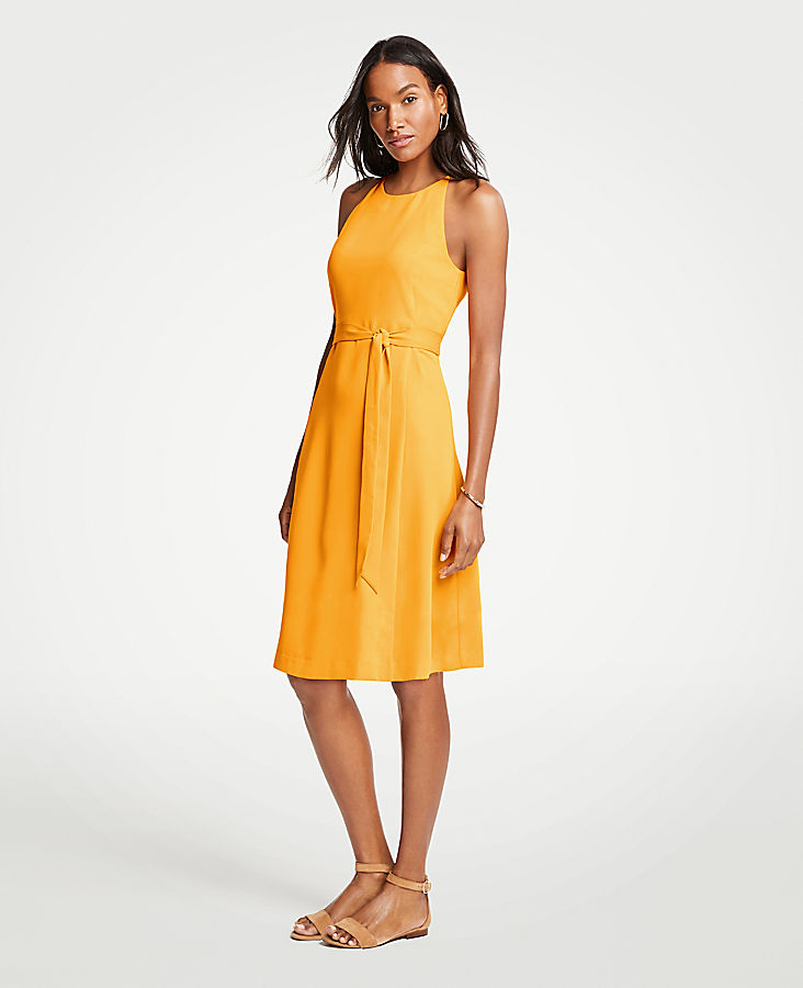 Tall Halter Flare Dress | Tuggl