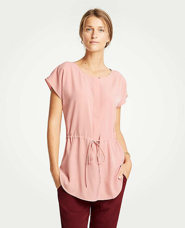 Tall Drawstring Tunic Top | Tuggl