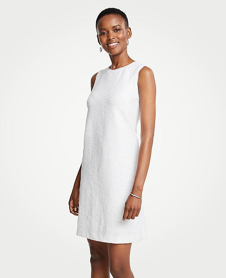 Petite Textured Knit Shift Dress