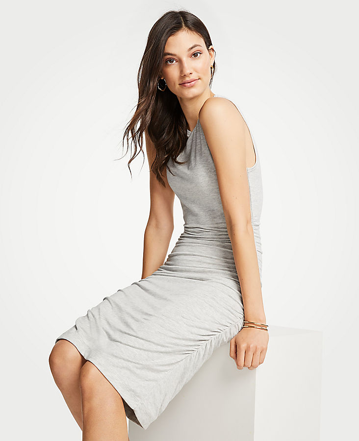 Petite Ruched Knit Sheath Dress