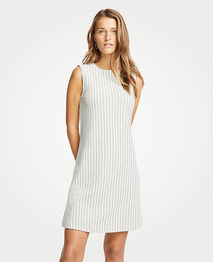 Petite Geo Jacquard Shift Dress
