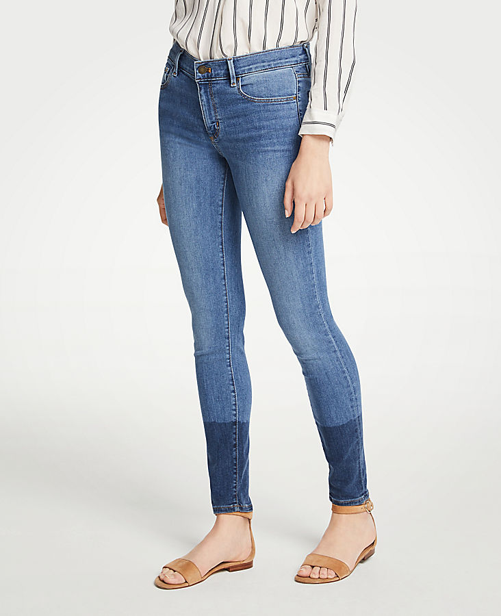 Petite Colorblock All Day Skinny Jeans