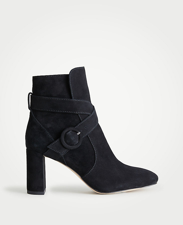 47cf78534dec Lesley Suede Block Heel Booties