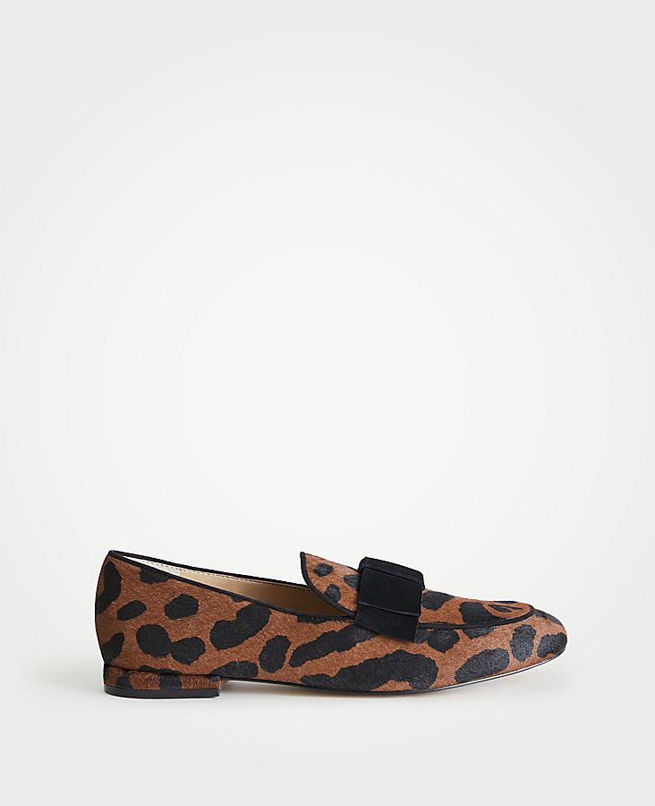 Adeline Hair Calf Bow Loafers | Tuggl