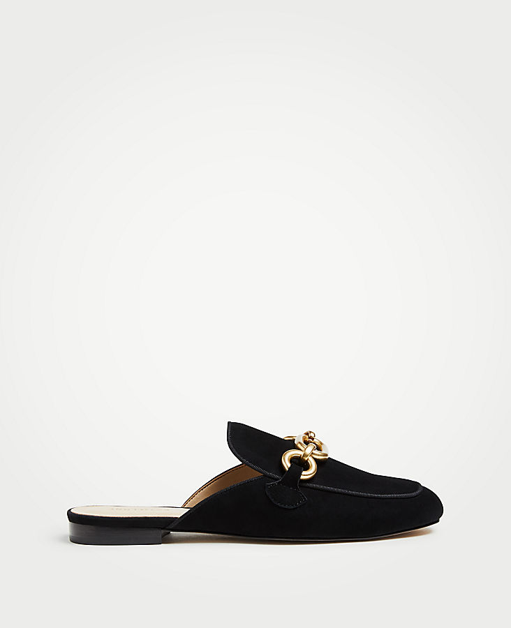 Camilla Suede Chained Loafer Slides | Tuggl
