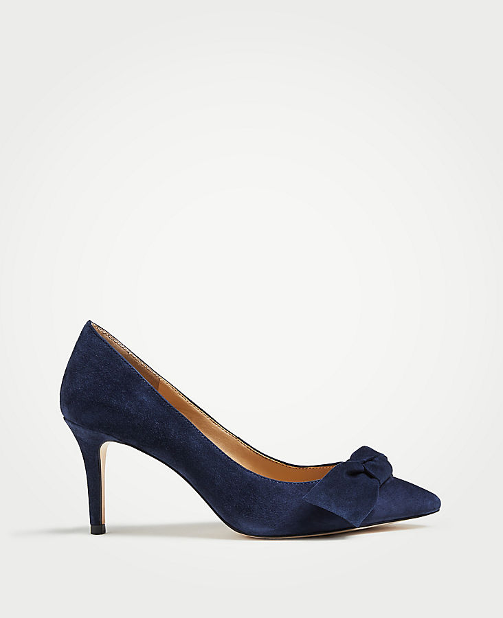 Frannie Suede Bow Pumps | Tuggl