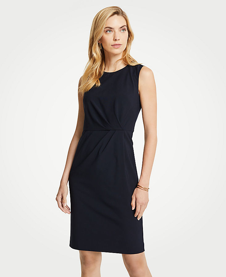 Petite Seasonless Stretch Ruched Sheath Dress